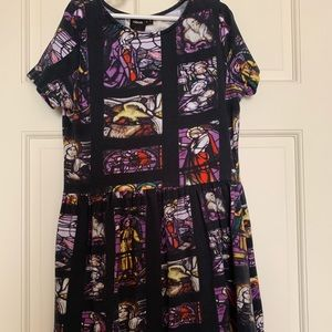 ASOS Stained Glass Tee Shirt Dress-2